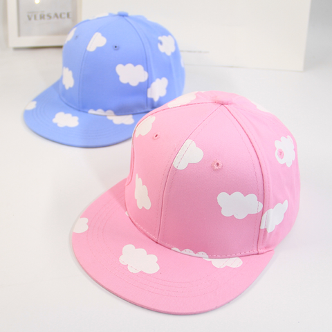 Cute Cloud Printed Cap (pink and blue) HF00092