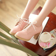 Korean Style Thick High-heeled Casual Shoes (various colors) HF00520