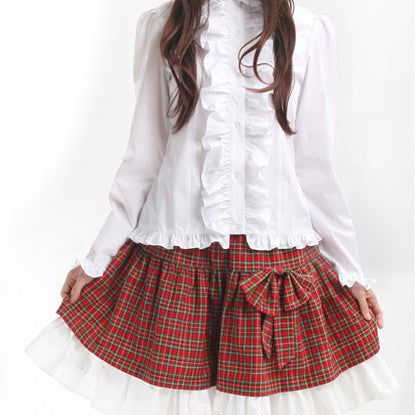 Lolita Plaited Bow Skirt HF00434