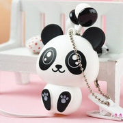 Kawaii Cartoon Panda Bear Earphones HF00884
