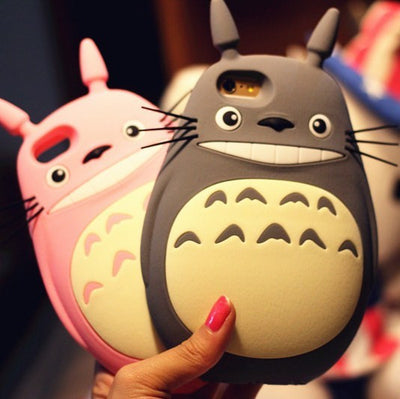[Totoro] Iphone Phone Case (pink and gray) HF00671
