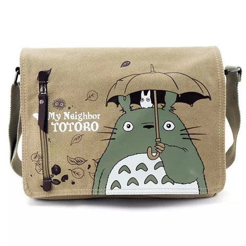[Totoro] Casual Canvas Satchel Shoulder Bag HF00003
