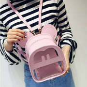 Mouse Ears Transparent Backpack Bag (various colors) HF00112