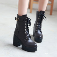 Autumn and Winter Retro High-heeled Boots HF00524