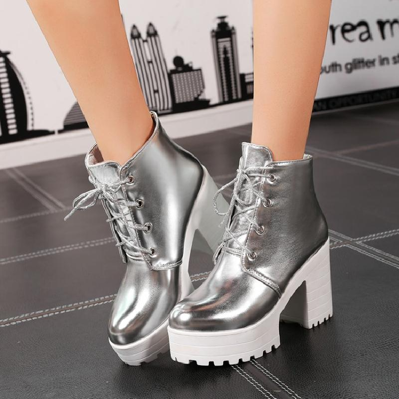 Sunny Day Shiny Boots (silver and gold) HF00239