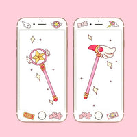 [Cardcaptor Sakura] Sealing Wand and Star Wand iPhone Phone Cases HF00848
