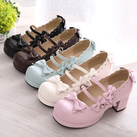 Lace Bow Straps Shoes (various colors) HF00433