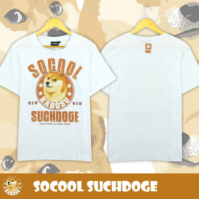 "[Doge] ""Socool Suchdoge"" Cartoon T-shirt HF00097"