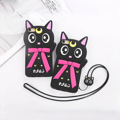 [Sailor Moon] Luna Kitty Cat Iphone Phone Case HF00773