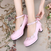 Lolita Petal Flower Shoes HF00912