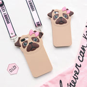 Cute Puppy Lanyard iPhone Phone Case HF00611