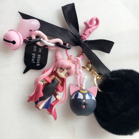 [Sailor Moon] Chibiusa Black Lady Keychains (various versions) HF00257