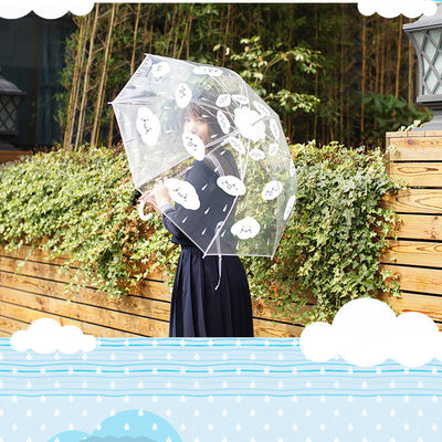 Cloud Rain Cartoon Transparent Umbrella HF00435