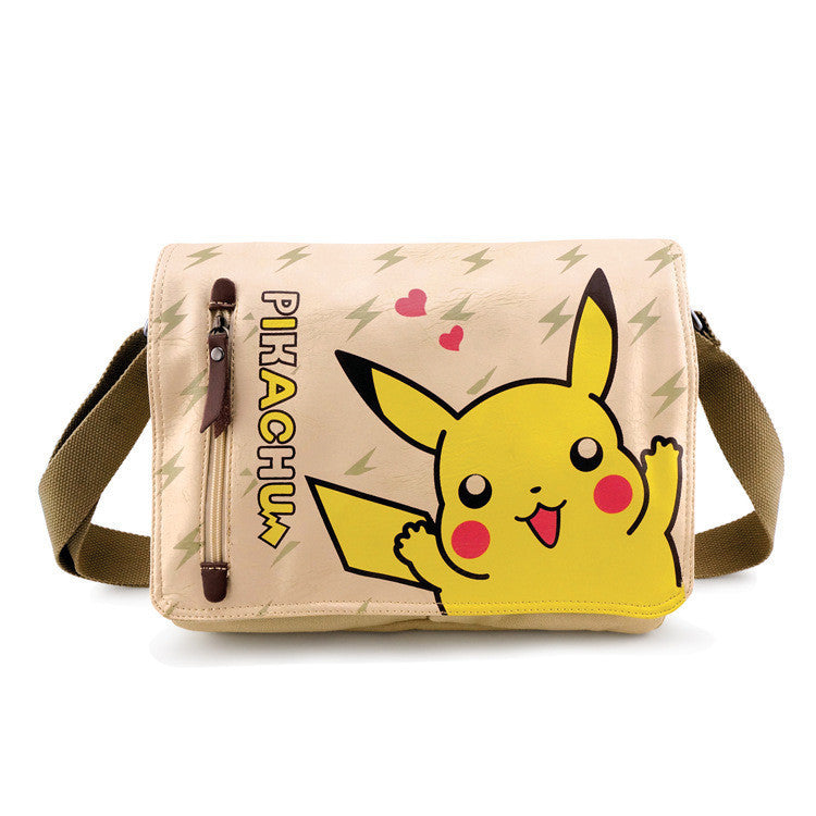 [Pokemon] Pikachu Canvas Cartoon Messenger Shoulder Bag HF00016