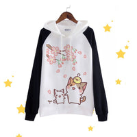 Kitty Cat Printed Hooded Sweaters (various styles) HF00776