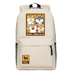 [Shiba Inu] Dogs Print Backpack Bags (various colors) HF00879