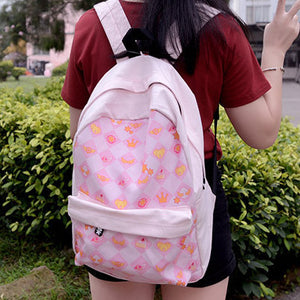 [Cardcaptor Sakura] Anime Cartoon Checkers Backpack HF00035