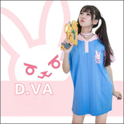 [Overwatch] D.VA DVA Bunny Hoodie Dress HF00322