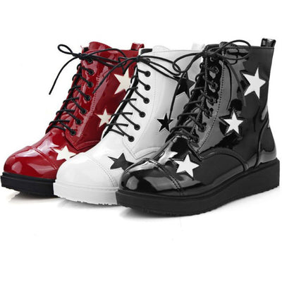 Five-pointed Stars Leather Boots (various colors) HF00925
