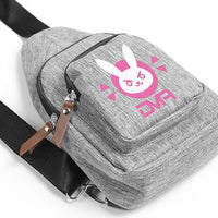 [Overwatch] D.VA DVA Gray Messenger Bag HF00102
