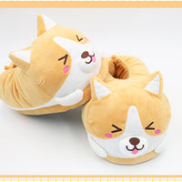Kawaii Welsh Corgi Winter Slippers HF00450