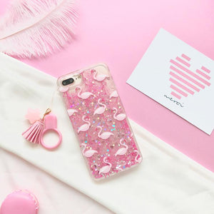 Flamingo Glitter iPhone Phone Case HF00519