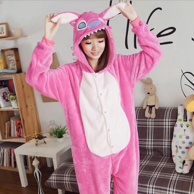 [Lilo & Stitch] Cute Cartoon Cosplay Onesie (pink) HF00311