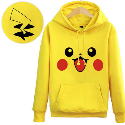 [Pokemon] Smiling Pikachu Hoodie Sweater (yellow and gray) HF00952