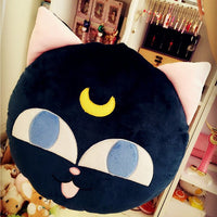 [Sailor Moon] Cute Luna Round Plush Pillow HF00840