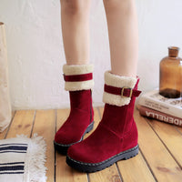Buckled Fur Snow Boots (various colors) HF00919