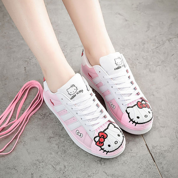 [Hello Kitty] Sporty Sneakers Shoes (pink white) HF00007