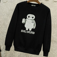 [Big Hero 6] Baymax Embroidered Sweaters (white and black) HF00265
