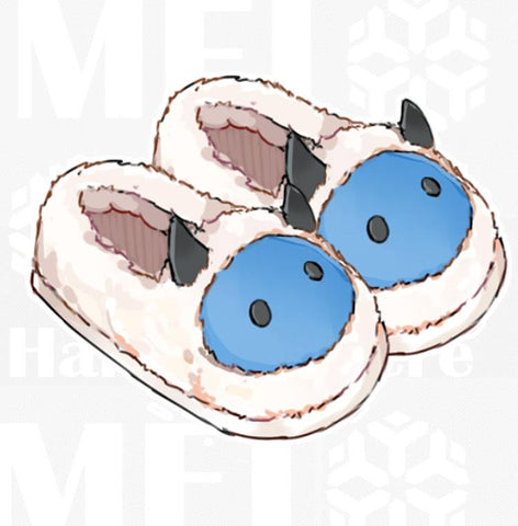 [Overwatch] Mei Plush Slippers (open and closed version) HF00714