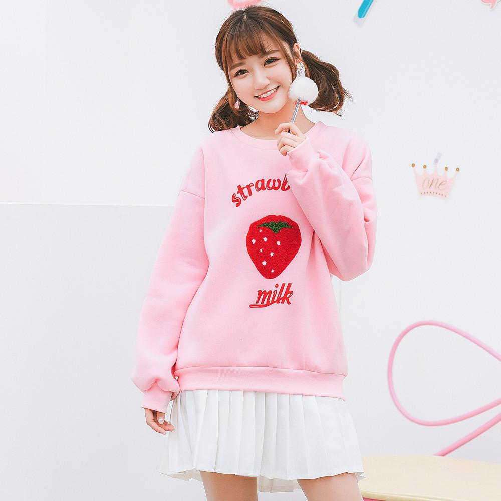 [Pinky Fashion] Strawberry Milk Sweater HF01034