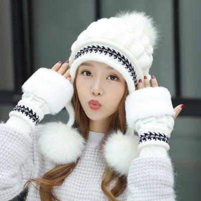Korean Style Winter Plush Hat (various colors) HF00056