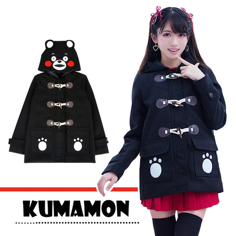 [Kumamon] Cute Cartoon Winter Hoodie Coat HF00107