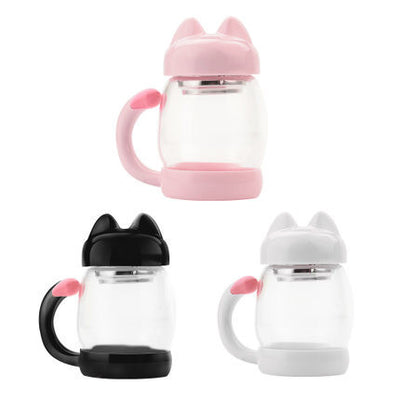 Transparent Kitty Ear Tail Cups (various colors) HF00633