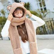 Warm Knitted Woolen Scarf and Hat Combo (various colors) HF00055