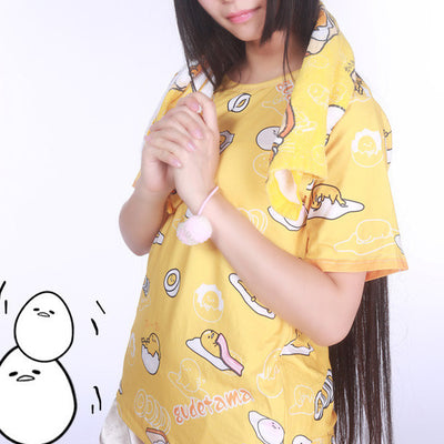 [Gudetama] Egg Yolk Cartoon Prints T-shirt HF00276