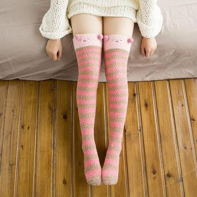 Cartoon Animal Woolen Knee Socks (various styles) HF00637