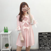 Triple Bow Lace Pajama Dress HF00673