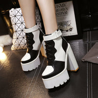 Strap High-heels Platform Boots (various colors) HF00745