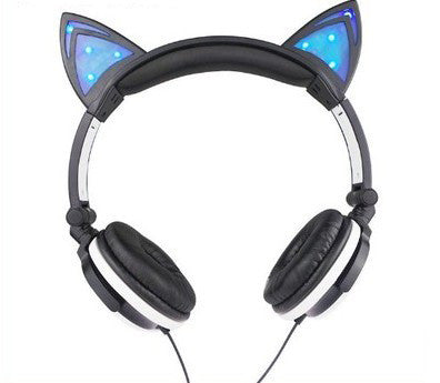 LED Kitty Cat Ear Headphones (various colors) HF00344