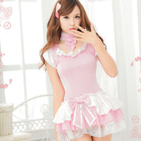 Sexy Ruffle Lace Dress Maid Costume HF00525