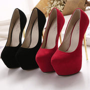 Sexy Ultra High-heels Shoes (red and black) HF00496