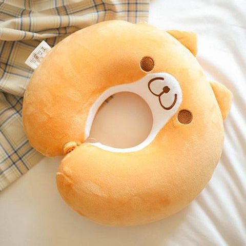 [Shiba Inu] Cute Dog Cotton Neck Pillow HF00864