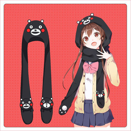 [Kumamon] Cute Bear Long Winter Scarf HF00159