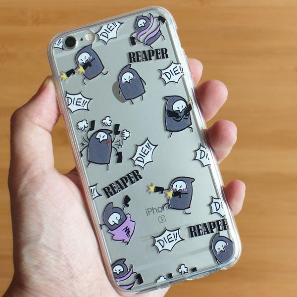 [Overwatch] Funny Reaper Prints Transparent iPhone Phone Case HF00577