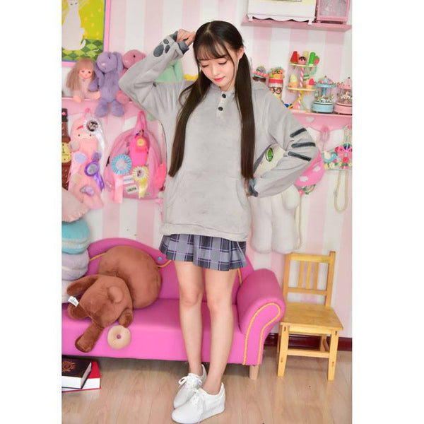 Neko Kitty Cat Thick Hoodie Sweater HF00779