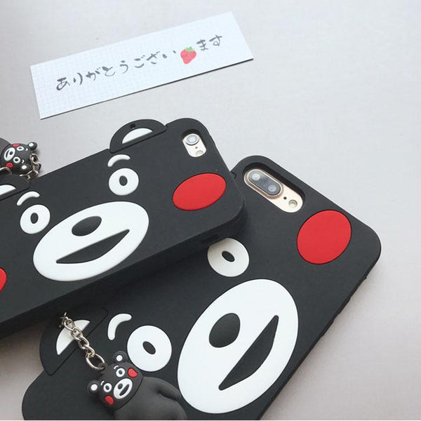 [Kumamon] Cute Cartoon Bear Face iPhone Phone Case HF00643